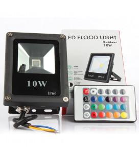 Светодиодный прожектор RGB 220 В, 10 Вт , COB, SLIM, IP65