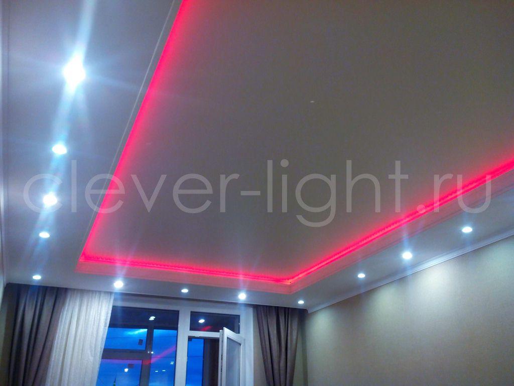 рос натяжные потолки с диодной подсветкой фото подходят
