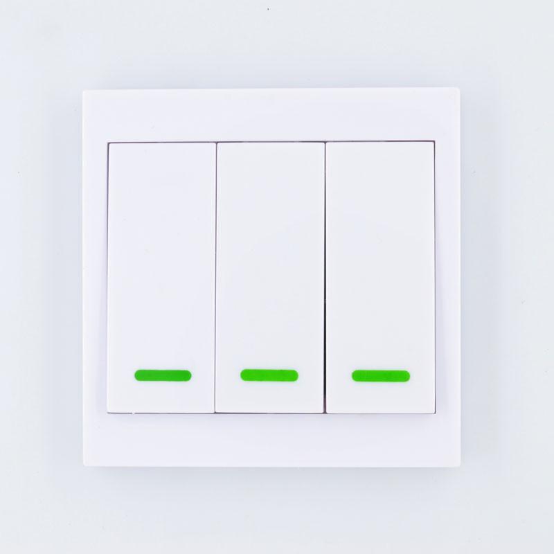 Выключатель 3-ех клавишный, белый