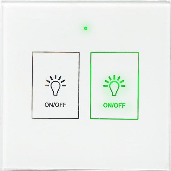 Выключатель сенсорный 2 кнопки, белый