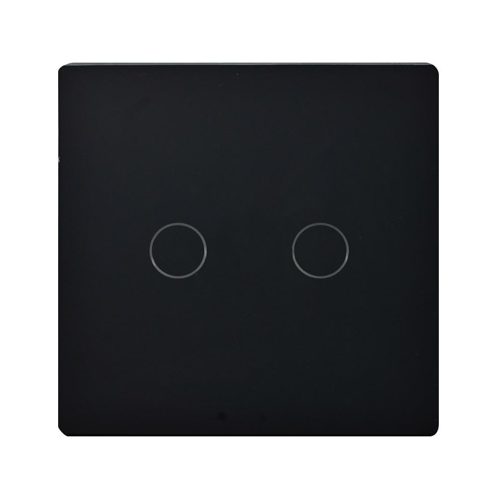 Выключатель сенсорный 2 кнопки,черный