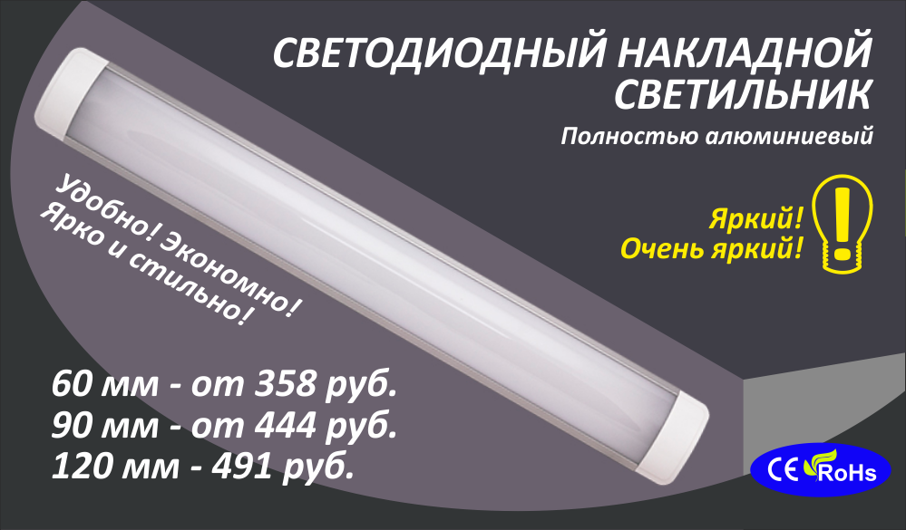 Накладные линейные Светодиодные светильники